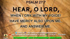 Hear, O Lord,