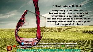 1 Corinthians 10 23 24