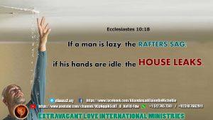 Ecclesiastes 10 18