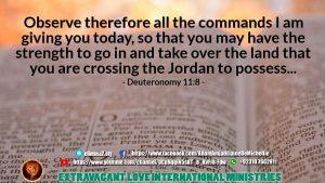Deuteronomy 11 8