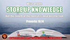 Proverbs 10 14